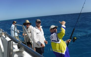 The guys enjoying a a great day of fishing